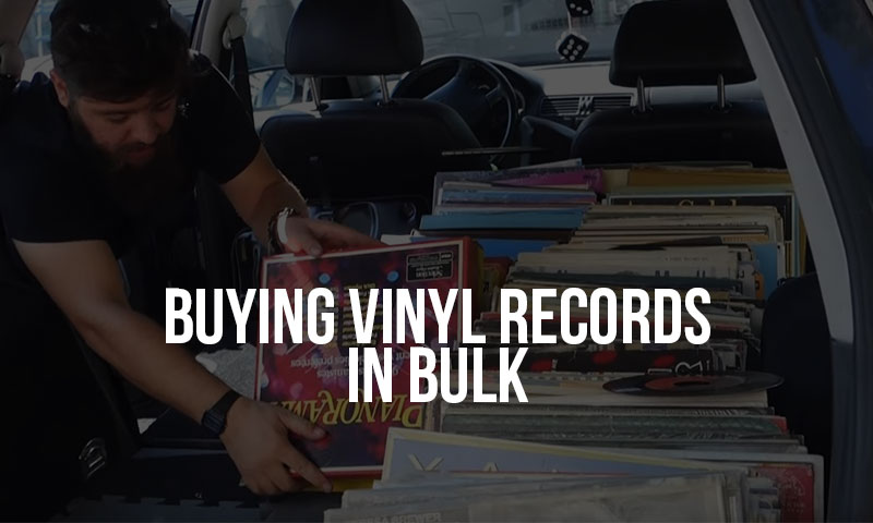 buying records in bulk