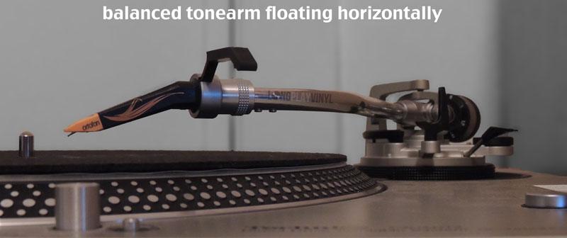 balanced tone arm