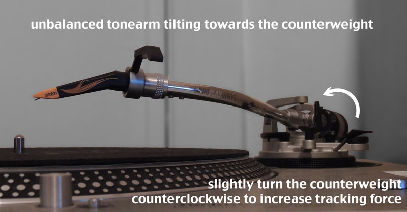 How to Balance a Tonearm, Set Stylus Tracking Force And