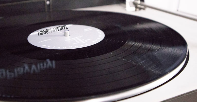 vinyl record with dust