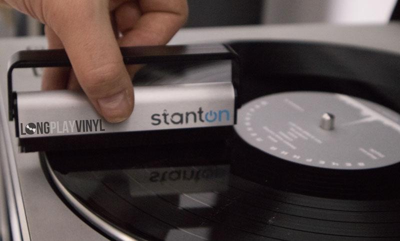 carbon fiber brush on a record