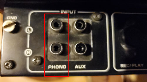 Phono Inputs on a receiver/amplifier